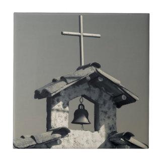 Tourist town, village chapel tile