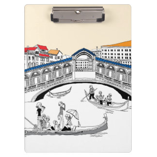 Tourist Traveling in Boats Clipboard