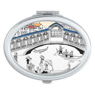 Tourist Traveling in Boats Compact Mirror