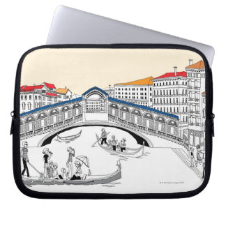 Tourist Traveling in Boats Laptop Computer Sleeve
