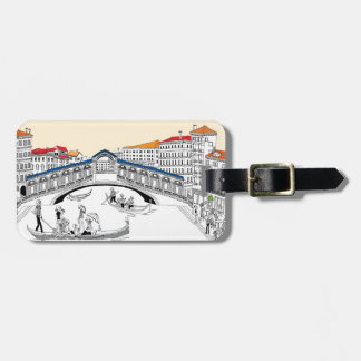 Tourist Traveling in Boats Luggage Tag