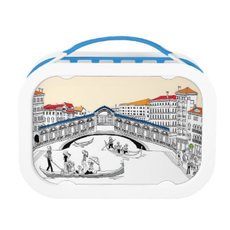Tourist Traveling in Boats Lunch Box