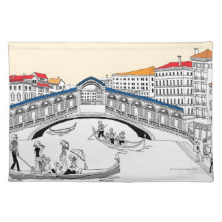 Tourist Traveling in Boats Placemat