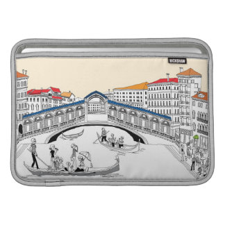 Tourist Traveling in Boats Sleeve For MacBook Air
