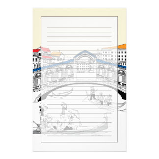 Tourist Traveling in Boats Stationery