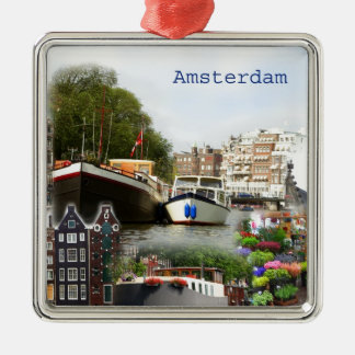 Touristic sites of Amsterdam Christmas Ornament
