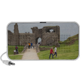Tourists and the path in the Urquhart Castle Laptop Speakers