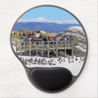 Tourists at Boulders Beach looking at penguins Gel Mouse Mats