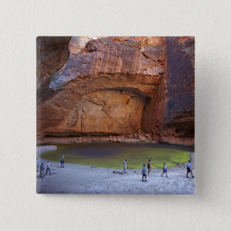 Tourists at Cathedral Gorge, Bungle Bungles 15 Cm Square Badge