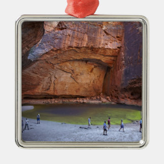 Tourists at Cathedral Gorge, Bungle Bungles Christmas Ornament