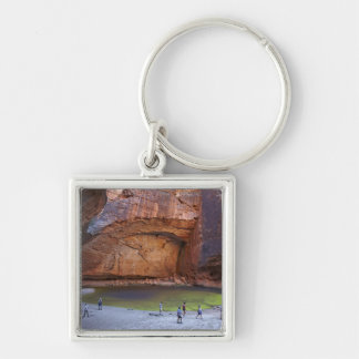 Tourists at Cathedral Gorge, Bungle Bungles Silver-Colored Square Key Ring