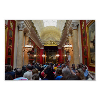 Tourists at the Hermitage Museum, St. Petersburg Poster