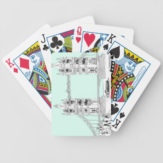 Tourists by Railing Bicycle Playing Cards