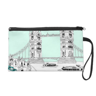 Tourists by Railing Wristlet