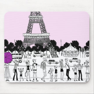 Tourists by Tower Mouse Pad