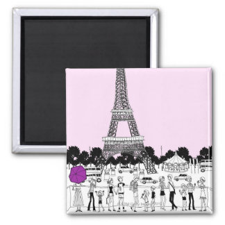 Tourists by Tower Square Magnet
