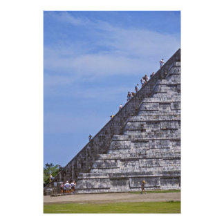 Tourists climbing stairs on ruins of El Photo