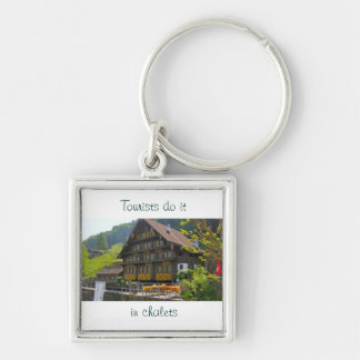 Tourists do it in chalets key ring
