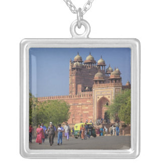 Tourists in front of Fatehpur Sikri, in the Silver Plated Necklace