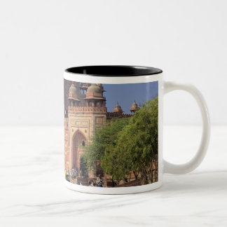 Tourists in front of Fatehpur Sikri, in the Two-Tone Coffee Mug