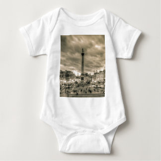 Tourists in Trafalgar Square, London Baby Bodysuit