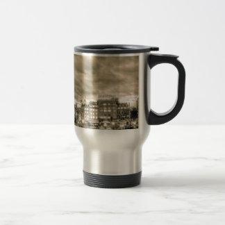 Tourists in Trafalgar Square, London Stainless Steel Travel Mug