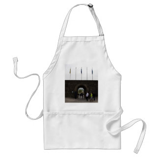 Tourists inside the Sterling Castle in Scotland Apron