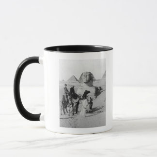 Tourists Traveling by Sphinx Mug