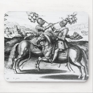 Tournament scene between Henri IV  and Antoine Mouse Mat