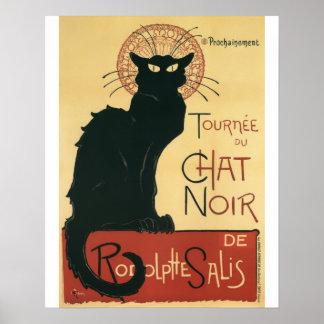 Tournee Du Chat Noir Black Cat Vintage Print
