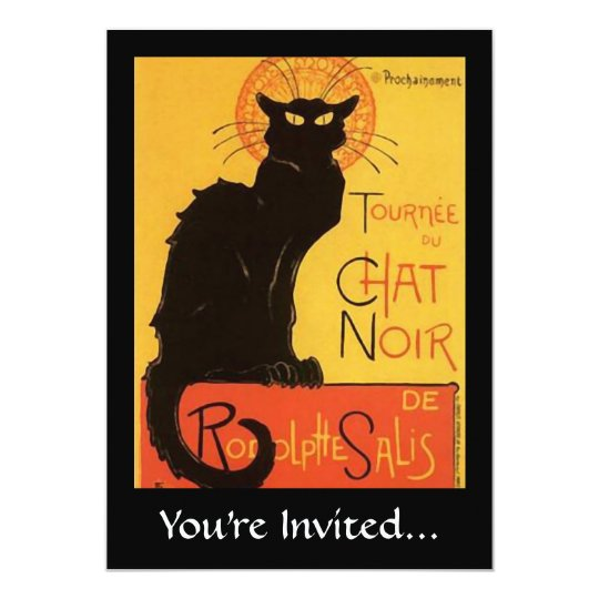 Tournée du Chat Noir, Steinlen Black Cat Vintage Card