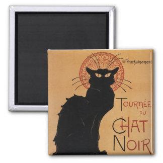 Tournée du Chat Noir, Steinlen Fine Art Square Magnet
