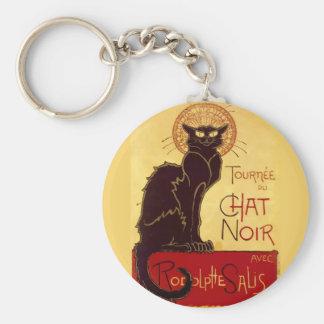 Tournée du Chat Noir, Théophile Steinlen Basic Round Button Key Ring