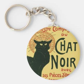 Tournée du Chat Noir, Theophile Steinlen Basic Round Button Key Ring