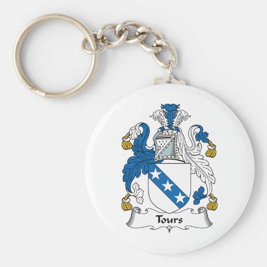 Tours Family Crest Basic Round Button Key Ring