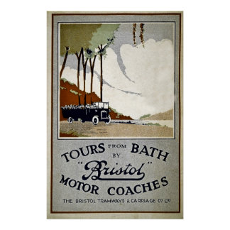Tours from Bath by Bristol Motor Coaches Print