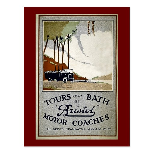 Tours from Bath by Bristol Post Cards