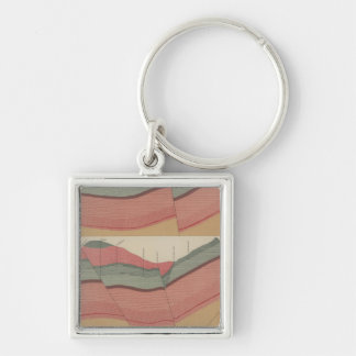 Tourtelotte Park Mining District Sheet 2 Silver-Colored Square Key Ring