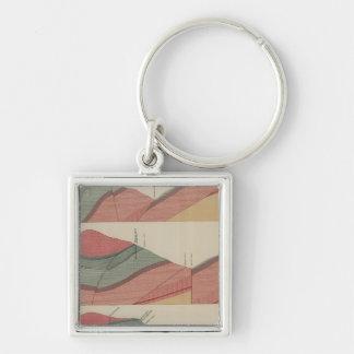 Tourtelotte Park Mining District Sheet Silver-Colored Square Key Ring