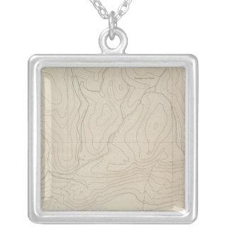 Tourtelotte Park Special Atlas Map Silver Plated Necklace