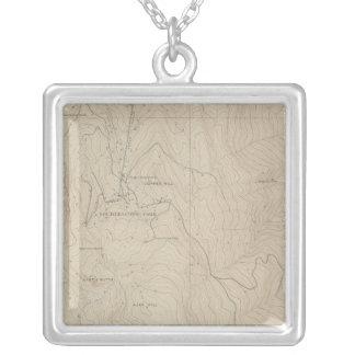 Tourtelotte Park Special Atlas Map Square Pendant Necklace