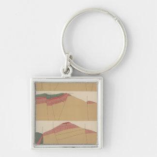 Tourtelotte Park Special Sheet Atlas Silver-Colored Square Key Ring