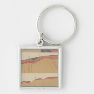 Tourtelotte Park Special Sheet Map Silver-Colored Square Key Ring
