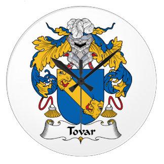 Tovar Family Crest Wall Clocks