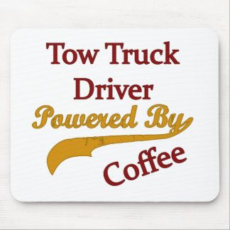 Tow Truck Driver Powered By Coffee Mouse Pad