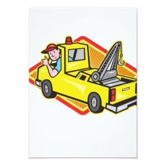 Tow Wrecker Truck Driver Thumbs Up 11 Cm X 16 Cm Invitation Card
