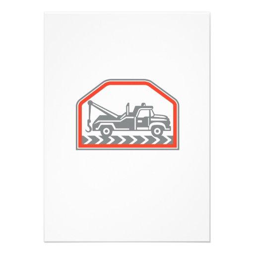 Tow Wrecker Truck Side Retro Personalised Invitation