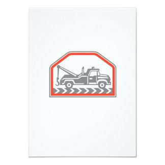 Tow Wrecker Truck Side Retro 11 Cm X 16 Cm Invitation Card
