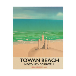 Towan Beach - Newquay Sandcastle travel print