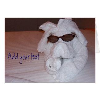 Towel Animal Card